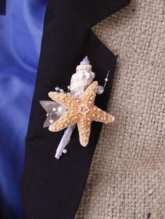 Sea shell boutonniere beach wedding boutonniere by UptownGirlzz, $8.50