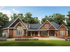 Craftsman House Plan, 019H-0159 -- Love everything about this house!!