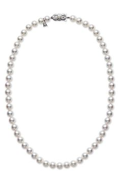 Mikimoto Akoya Cultured Pearl Short Necklace available at #Nordstrom #Nordstromweddings