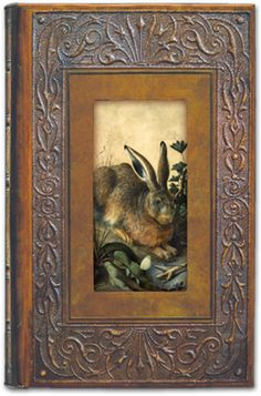 """Figments Studio Art Frame Journal featuring """"Hare"""" by Hans Hoffmann.   Size: 9"""" x 6"""" x ¾"""" 200 pages (front & back) Lined, acid-free, $28.95 #figmentsstudio #journal #vintage"""