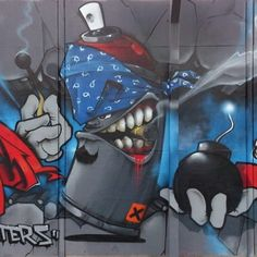 Tight character by Kak, photo by Datachump Graffiti Piece, Graffiti Wall Art, Graffiti Alphabet, Street Art Graffiti, Graffiti Tattoo, Graffiti Wallpaper, Best Street Art, Amazing Street Art, Cartoon Drawings
