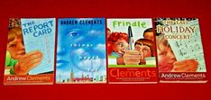 4 Children's Chapter Books Andrew Clements Ages 8-12 Teachers Frindle