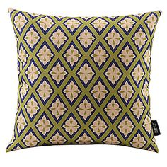 Floral Plaid Cotton/Linen Decorative Pillow Cover – NOK kr. 126