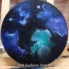 Are you looking for some Easy Painting for home Decor? The art of starry sky painting is very popular in recent years Are you looking for some Easy Painting for home Decor? The art of starry sky painting is very popular in recent years # Creation Art, Art Diy, Art Crafts, Galaxy Painting, Night Sky Painting, Watercolor Galaxy, Aesthetic Painting, Star Art, Beginner Painting