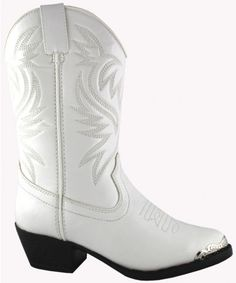 The Mesquite Boot by Smoky Mountain Boots are a classically designed western boot!These boots feature:Synthetic Upper Synthetic LiningToe RandWestern ToeWestern Heelli>TPR Sole Toddler Girl Cowboy Boots, Youth Cowboy Boots, White Cowgirl Boots, Kids Western Boots, Kids Boots, Kid Shoes, Shoe Boots, Girls Shoes Online, Pull On Boots