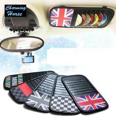 Car Interior Sun Visor Storage Bag CD Receive Bag DVD Disk Card Visor Case Folder Pocket for BMW Mini Cooper