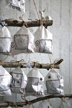 Adventní kalendář   Venoška Made   Bloglovin' Nordic Christmas, Christmas Crafts For Kids, Christmas Wrapping, Rustic Christmas, Simple Christmas, Christmas Holidays, Christmas Decorations, Advent Calendars For Kids, Easy Crafts