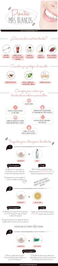 Estos tips funcionan. Es importante lavarse los dientes tres veces al día para complementar el efecto de los trucos