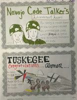 This creative, fun activity for World and American History classes has students reading short, one page stories of minority groups that helped during World War II then using the information they read to create commemorative plaques that honor that group for their service. $3.99 from http://www.teacherspayteachers.com/Product/World-War-II-Plaques-Navajo-Code-Talkers-Tuskegee-Airmen-Women-Nisei