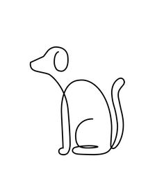 by Niuskary Castellano Animal Line Drawings, Pencil Art Drawings, Easy Drawings, Quilt Inspiration, Single Line Drawing, Minimalist Drawing, Kunst Poster, Free Motion Quilting, Wire Art