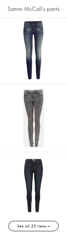 """Sammi McCall's pants"" by samtiritilli ❤ liked on Polyvore featuring jeans, pants, bottoms, calças, skinny jeans, dark denim blue, dark denim skinny jeans, h&m jeans, super low rise skinny jeans and low jeans"