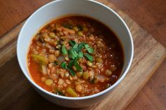 Nourish The Roots: Lentil and Brown Rice Soup (one of my favorite lentil soups...and I've made a lot of lentil soups in my life)