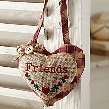 Check Hanging Heart - Friends