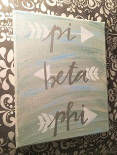 Iridescent Pink and Gold Arrow Alpha Omicron Pi Or Custom Sorority Canvas OR Iridescent Blue and Silver Arrow Pi Beta Phi LIST YOUR CHOICE IN THE