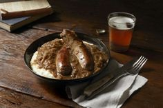 Bangers and Mash with Onion Gravy (from Dimity Jones)