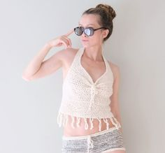 PATTERN ONLY. Please notice no return for this item    PATTERN to make a beautiful hand crocheted sexy tank camisole top. Great for beaches, music