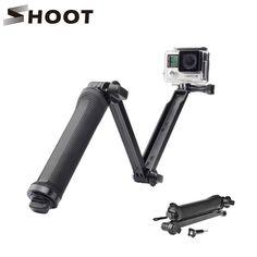 Shoot 3 Way Waterproof Monopod Selfie Grip Tripod Mount For Gopro Hero 5 4 Session SJ4000 Xiaomi Yi 4K Camera accessories Gopro