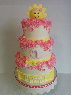 you are my sunshine 1st birthday - Cake by Cake That Bakery