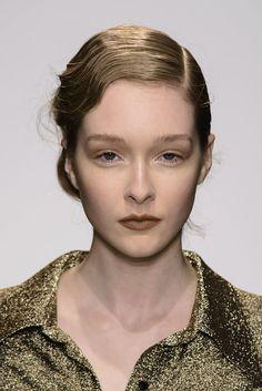 Brown lips at Pascal Millet Fall 2014  - Runway Beauty at Paris Fashion Week #PFW
