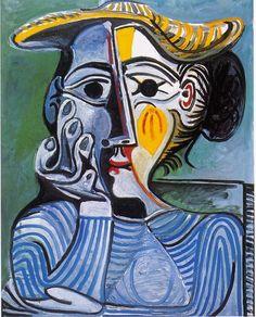 Picasso: Femme au chapeau jaune (Jacqueline) -1962