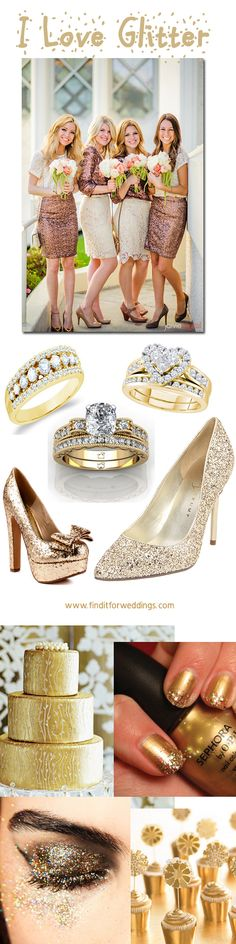 #Glitter can be in all things #wedding #shoes and #jewelry   http://www.finditforweddings.com
