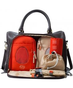 PacaPod Firenze - chocolate Leather Changing Bag - Gorgeous bag with great organization