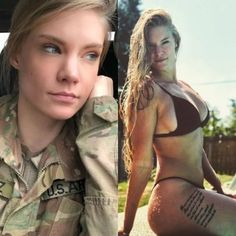 Sexy Bikini, Modelos Fitness, Funny Sexy, Military Girl, Female Soldier, Military Women, Girls Uniforms, Badass Women, Bikini Workout