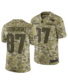 bec5748f1 Nike Men s Rob Gronkowski New England Patriots Salute To Service Jersey  2018 - Green S