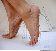 Wire structure shoes