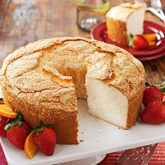 Best Angel Food Cake Recipe -For our daughter's wedding, a friend made this lovely, airy cake from a recipe she's used for decades. Serve slices plain or dress them up with fresh fruit. —Marilyn Niemeyer, Doon, Iowa