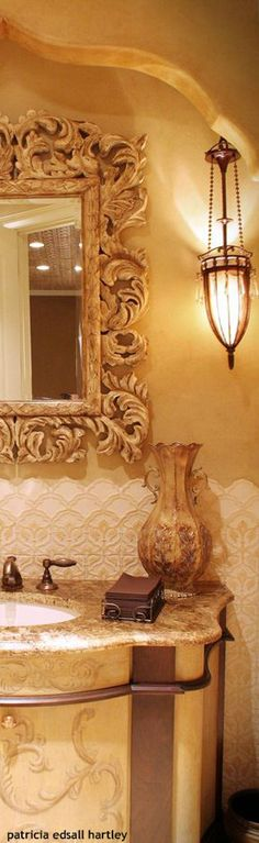 #Tuscan styled bathroom                                                                                                                                                                                 More