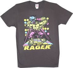The Incredible Hulk All Night Rager T-Shirt by Junk Food Junk Food Tees, Incredible Hulk, Vintage Inspired, Tee Shirts, The Incredibles, Hero, Free Shipping, Night, Mens Tops