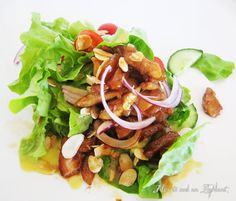 Sticky Chicken Salad with Almonds and Apricots recipe | All4Recipes