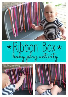 Ribbon Box Baby Play Activity Ribbon Box Baby Play Activity The post Ribbon Box Baby Play Activity appeared first on Toddlers Diy. Infant Sensory Activities, Baby Sensory Play, Baby Play, Activities For Kids, 7 Month Old Baby Activities, Baby Sensory Ideas 3 Months, Activities For Babies Under One, Baby Room Activities, Baby Sensory Bags