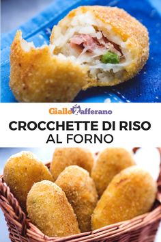 Crocchette di riso al forno Baked rice croquettes: crunchy and stringy. Veg Recipes, Light Recipes, Vegetarian Recipes, Cooking Recipes, Healthy Recipes, Italian Dishes, Italian Recipes, Arancini Recipe, Baked Rice