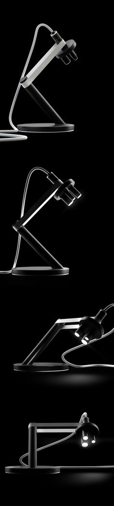 Microscope LED lamp by Michael Samoriz, via Behance.  I don't like the execution, but I like the idea of mixing science with design.