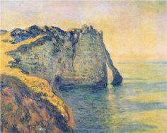 Cliffs of the Porte d'Aval - Claude Monet