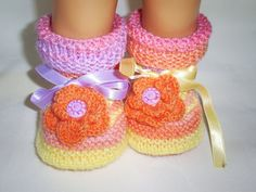 Knitted Baby Booties Hand Knitted Baby Shoes Hand Knitted Baby