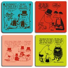 Moomin and the rich and impressive coaster set by Opto Design