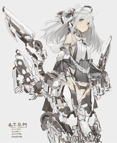 Safebooru is a anime and manga picture search engine, images are being updated hourly. Anime W, Girls Anime, Anime Art Girl, Character Concept, Character Art, Concept Art, Neko Maid, Anime Illustration, Cyberpunk Kunst