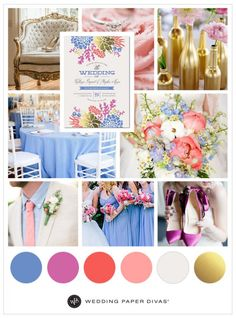 Best wedding colors pink and blue inspiration boards 68 ideas Periwinkle Wedding, Blue Wedding, Trendy Wedding, Diy Wedding, Garden Wedding, Wedding 2017, Dream Wedding, Blue Centerpieces, Wedding Centerpieces