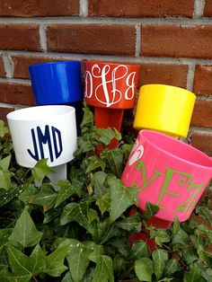 Perfect Monogrammed Drink Holder by AnInitialImpression on Etsy, $12.95