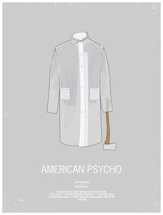 americanpsycho1 70 Powerful Examples of Minimal Movie Poster Designs