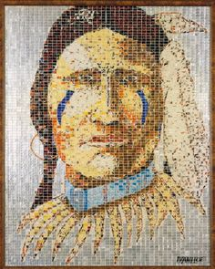 Jeff Ivanhoe's alumosaics, is his ability to create detailed portraits and models of objects, just by using the designs on the original aluminum can