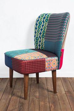 Desigual Originele fauteuil met patchwork. Steek je huis in een nieuw jasje!