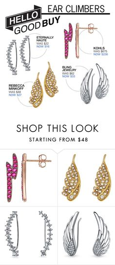 """""""Hello Good Buy: Ear Climbers"""" by polyvore-editorial ❤ liked on Polyvore featuring Rebecca Minkoff, Bling Jewelry and HelloGoodBuy"""