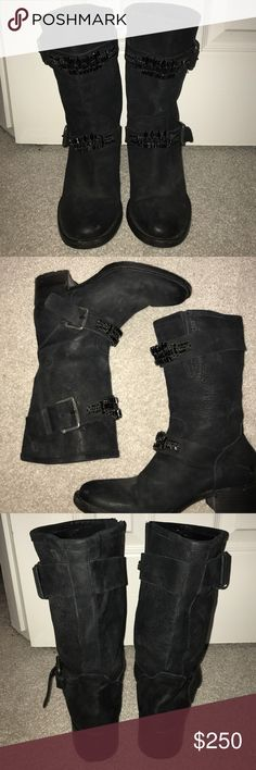 Flash SaleVera Wang Embellished Mid Calf Boot Vera Wang Lavander Embellished Mid Calf Boot. Authentic. Worn three times, excellent condition Vera Wang Shoes Combat & Moto Boots