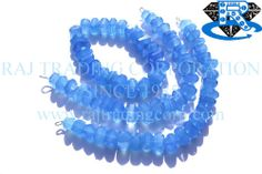 Blue Chalcedony Faceted Centre Drilled Nuggets (Quality AAA) Shape: Nuggets Faceted Length: 18 cm Weight Approx: 43 to 45 Grms. Size Approx: 10 to 12.5 mm Price $39.60 Each Strand