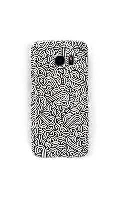 """White and black zentangle"" Samsung Galaxy Cases & Skins by @savousepate on @redbubble #galaxycase #phonecase #galaxyskin #phoneskin #pattern #drawing #abstract #modern #graphic #geometric #boho #doodles #zentangle #blackandwhite"