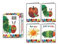 Magnetic Box Containing 16 Notecards , 4 Designs In The Very Hungry Caterpillar Range. RRP: £4.99
